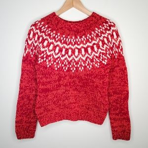 American Eagle Hand Knit Lambs Wool Cozy Sweater